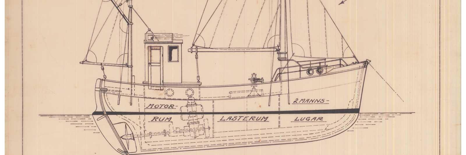Herlig Båttegninger - Arkivverket CG-01