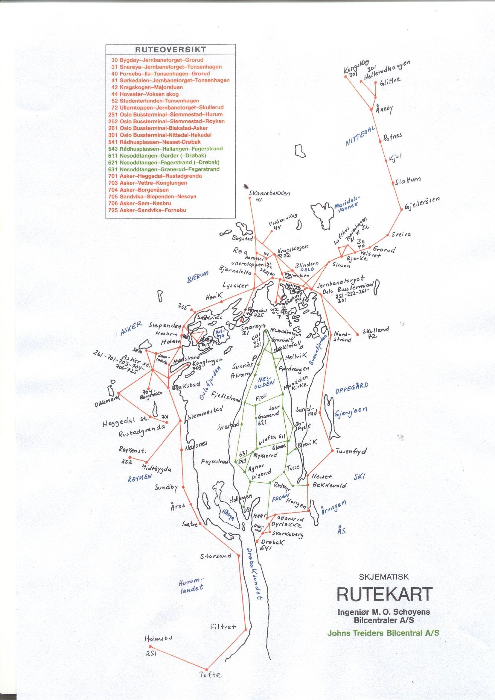 kart bussruter oslo Det kommer alltid en buss   Arkivverket kart bussruter oslo
